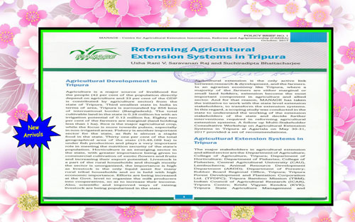 Reforming Agricultural Extension Systems in Tripura